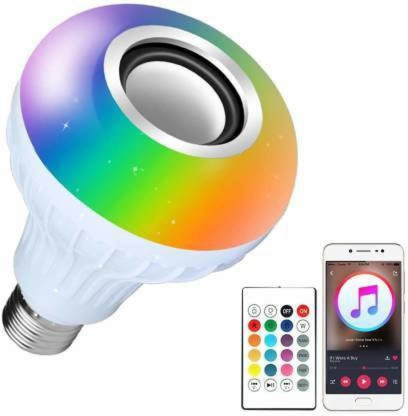 EncyKick Led Bulb with Bluetooth Speaker